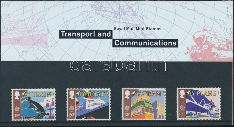 Europa CEPT: Transport and communications set in decorative holder, Europa CEPT: szállítás és kommunikáció sor díszcsomagolásban