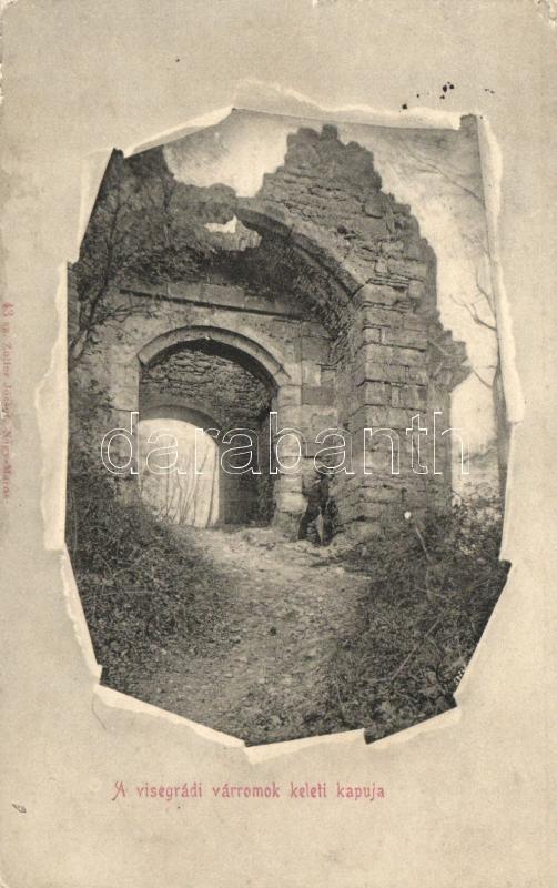 Visegrád, Várromok keleti kapuja; Zoller József