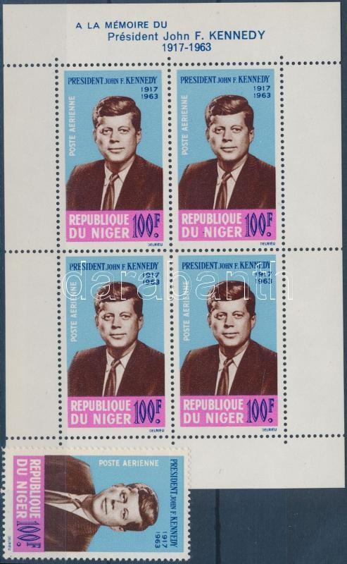 Kennedy stamp + block, Kennedy bélyeg + blokk