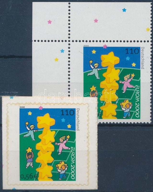 Europa CEPT ívsarki fogazott + öntapadós bélyeg, Europa CEPT corner perforated + self-adhesive stamp