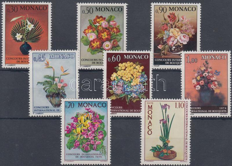 1972-1975 Flower Arrangement Competition 3 diff. sets, 1972-1975 Virágkötészeti verseny 3 klf sor