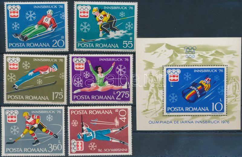 Winter Olympics, Innsbruck set + block, Téli olimpia, Innsbruck sor + blokk