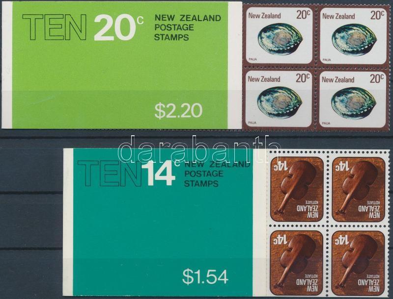 2 diff stampbooklets, 2 klf bélyegfüzet