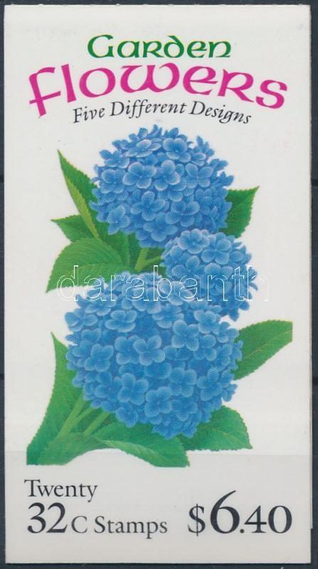 Flower stamp booklet, Virág bélyegfüzet (széthajtatlan)