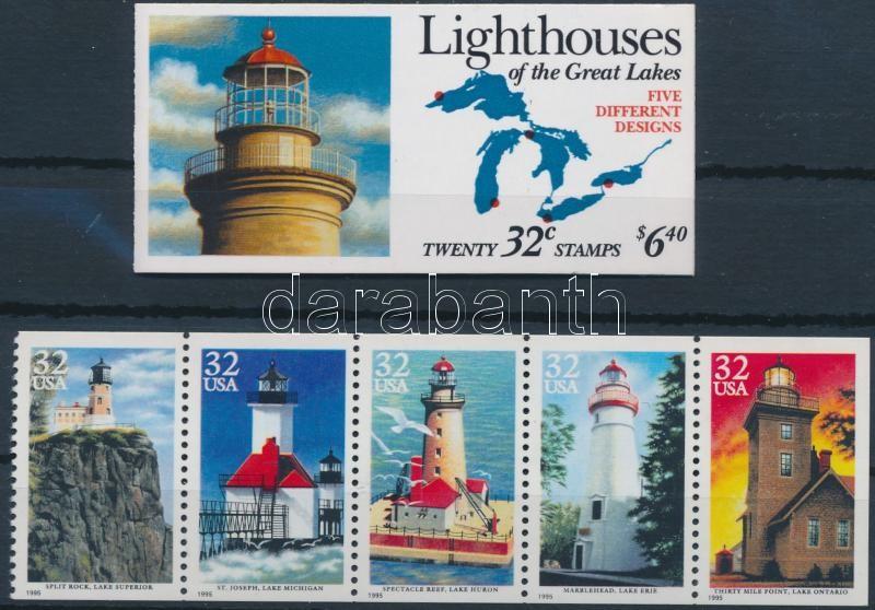 1995 Világítótornyok bélyegfüzet + lap Mi MH 184 + H-Blatt 152 (2576-2580)