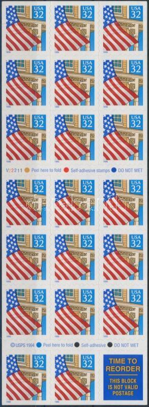 Flag foil sheet, Zászló fólia lap