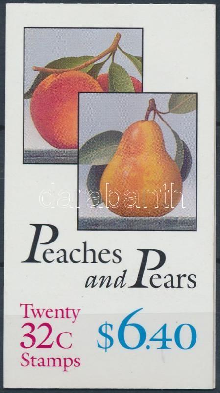 Fruit stamp booklet (unfolded), Gyümölcs bélyegfüzet (széthajtatlan)