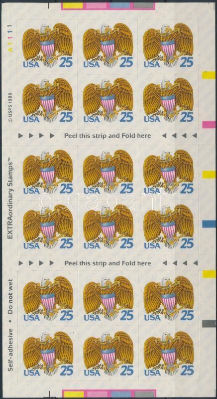 Eagle crest foil sheet, Sas címerrel fólialap