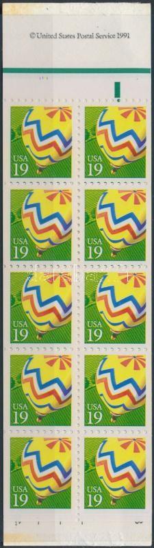 Hőlégballon bélyegfüzet, Hot Air Balloon stamp booklet