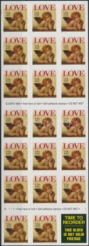 Greeting stamp foil sheet, Üdvözlő bélyeg fólialap