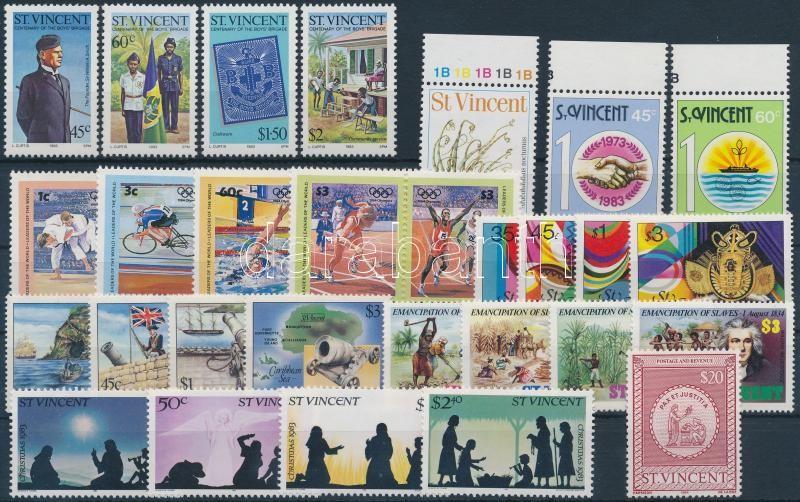 1983-1984 32 stamps with sets, 1983-1984 32 db bélyeg, közte teljes sorok és ívszéli értékek
