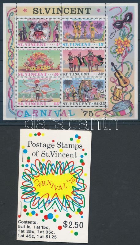 Carnival stamp booklet + block, Karnevál bélyegfüzet + blokk