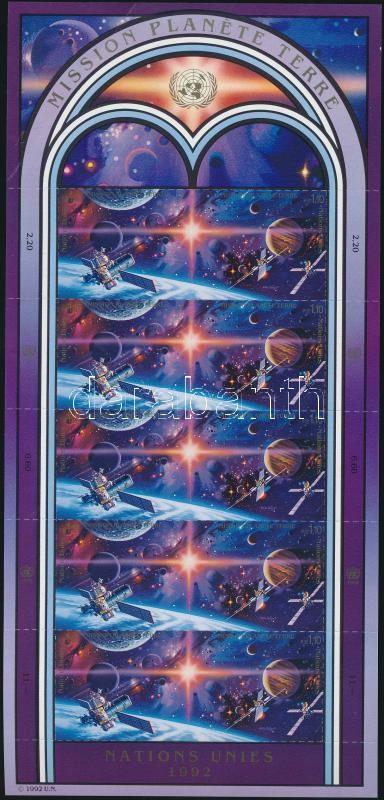 Year of space travel mini sheet, Az űrutazás éve kisív