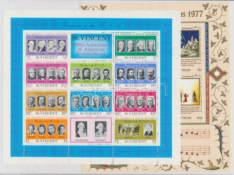 1974-1978 30 stamps with sets + 3 block, 1974-1978 30 db bélyeg, közte teljes sorok és ívszéli értékek + 3 db blokk