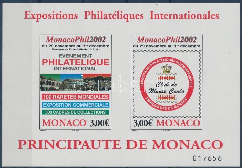 Stamp Exhibition imperf block, Bélyegkiállítás vágott blokk