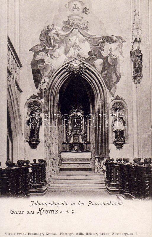 Krems an der Donau, Piaristenkirche, Johanneskapelle / church, chapel, interior