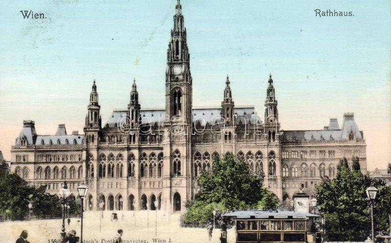 Vienna, Wien I. Rathaus / town hall, tram