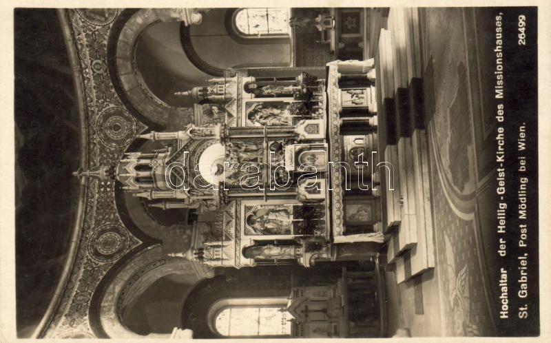 Mödling, St. Gabriel Heiliggeistkirche des Missionshauses, Hochaltar / church, High Altar