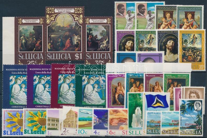 1967-1970 37 stamps with sets, 1967-1970 37 db bélyeg, közte teljes sorok, összefüggés és ívszéli értékek