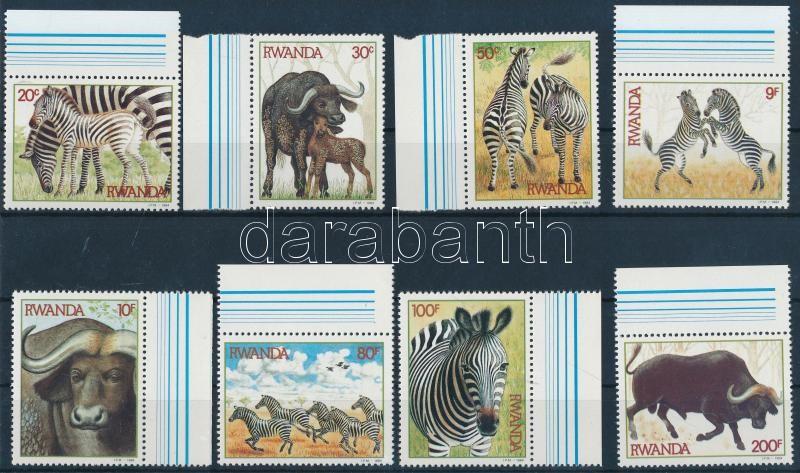 Zebrák és bivalyok ívszéli sor, Zebras and buffaloes margin set