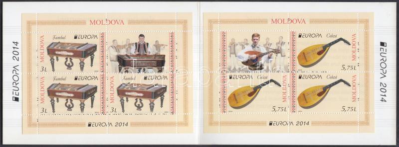 Europa CEPT Musical Instruments stamp-booklet, Europa CEPT Hangszerek bélyegfüzet