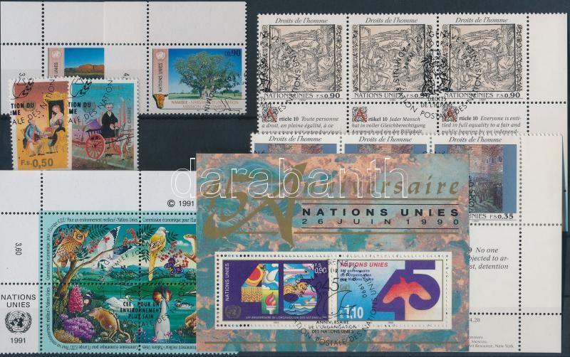 1969-1998 5 sets + 5 diff blocks + 10 diff stamp + 1 block of 4, 1969-1998 5 sor (két sor hatostömbben) + 5 klf blokk + 10 klf önálló érték + 1 négyestömb 3 db stecklapon
