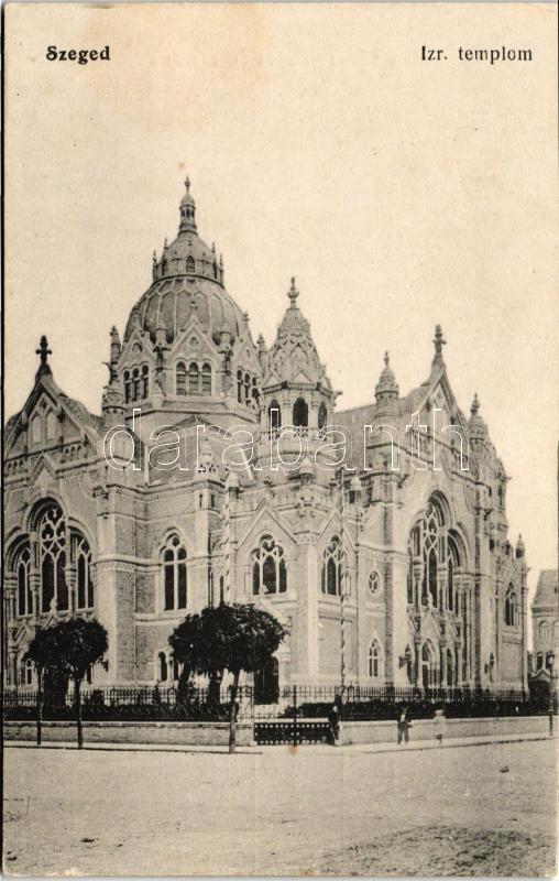 Szeged, Izraelita templom, zsinagóga, kiadja Grünwald Herman