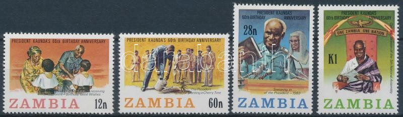 60th birthday of President Kenneth Kaunda set, Kenneth Kaunda elnök 60. születésnapja sor