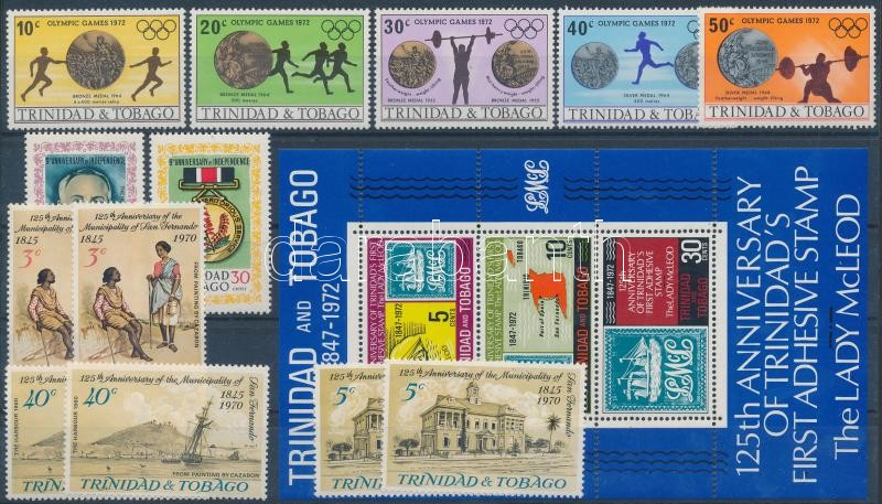 1970-1972 4 sets and 1 block, 1970-1972 4 db sor és 1 blokk