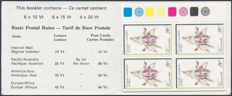 Orchids stampbooklet, Orchidea bélyegfüzet