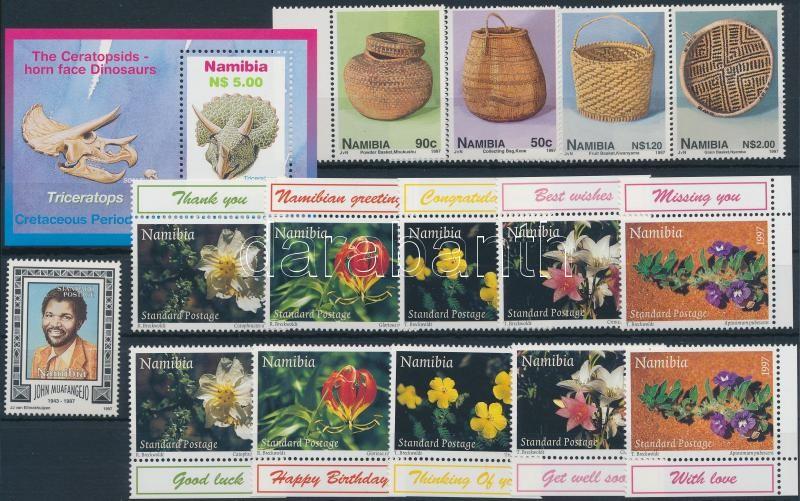 5 diff stamps, 5 sets and 3 blocks, 5 klf önálló érték, 5 db sor és 3 klf blokk