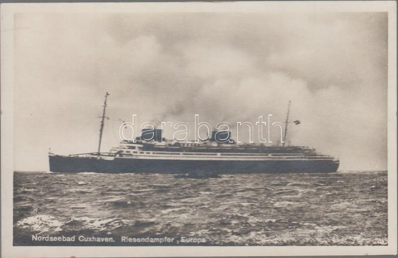 Nordseebad, Cuxhaven, Riesendampfer Europa