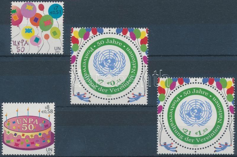 UNO set + stamps from block, ENSZ sor + blokkból kitépett bélyegek