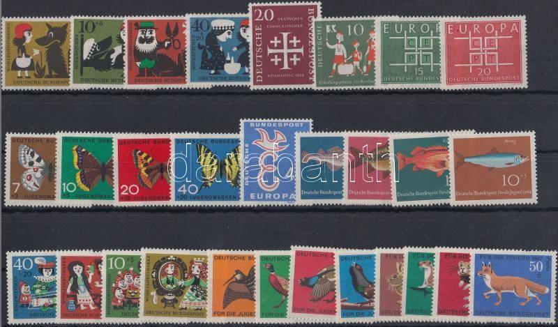 6 diff sets + 4 diff stamps, 6 klf sor + 4 klf önálló érték