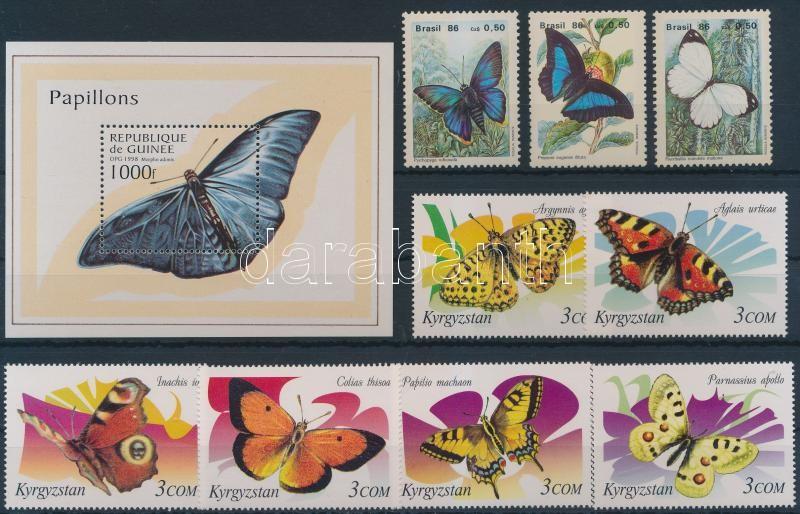Butterfly motif 2 sets + 1 block, Lepke motívum 2 klf sor + 1 blokk