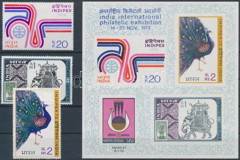 International Stamp Exhibition '73 Indipex set + block, Nemzetközi Bélyegkiállítás ´73 Indipex sor + blokk