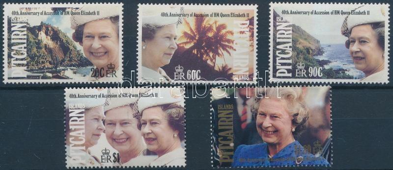 Queen Elizabeth II set, II. Erzsébet trónra lépésének 40. évfordulója sor