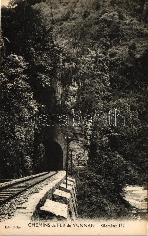 Yunnan, Chemins de fer / railroad tunnel