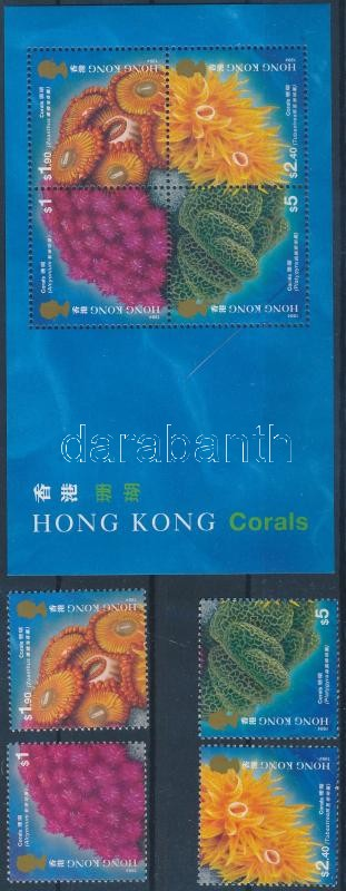 Corals set + block, Korallok sor + blokk