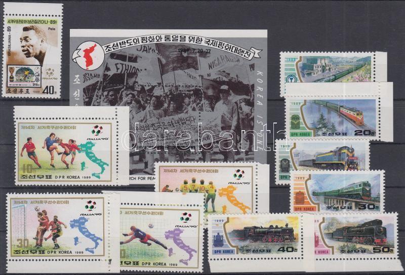 11 diff stamps + block, 11 klf bélyeg (közte ívszéli és ívsarki bélyegek) + blokk