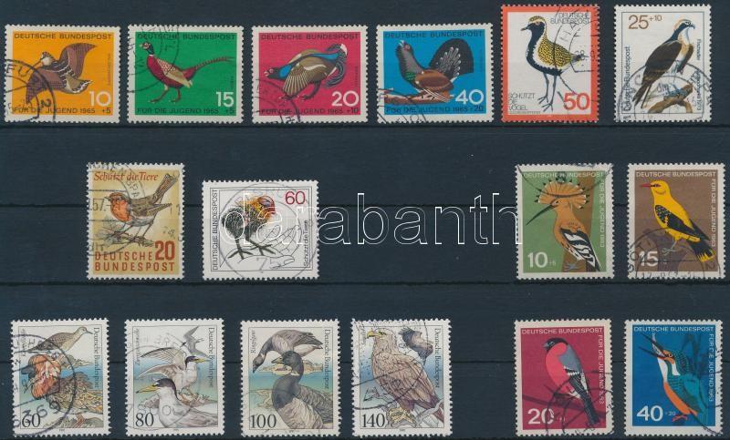 1957-1991 Birds 16 stamps, 1957-1991 16 db Madár motívumú bélyeg