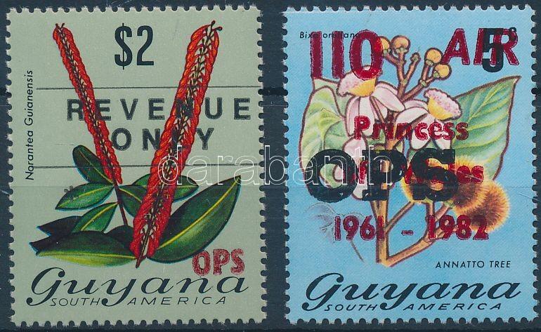 2 diff. official stamps, 2 db Hivatalos bélyeg