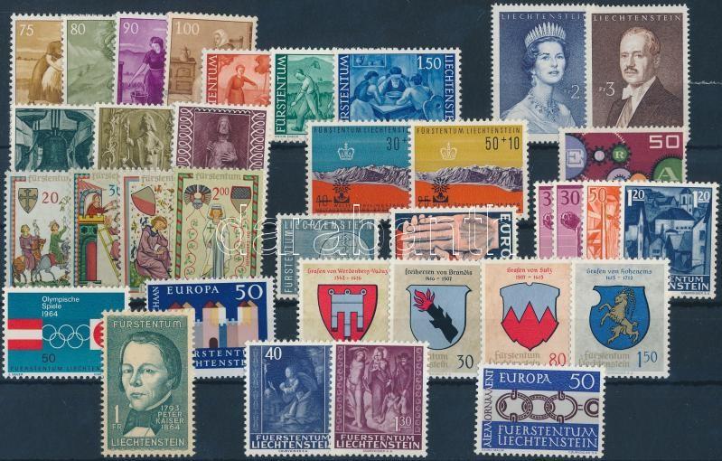 1960-1965 34 diff stamps, 1960-1965 kis összeállítás 34 klf bélyeg