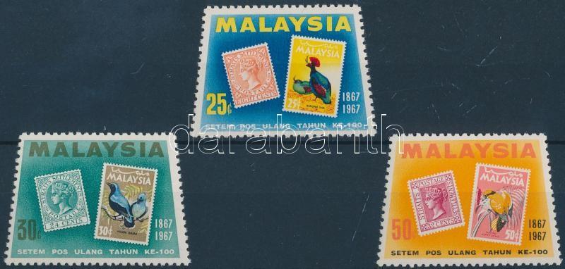 Malay stamp centenary set, 100 éves a maláj bélyeg sor