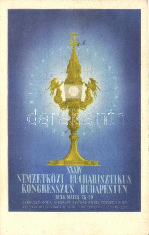 1938 Budapest, 34th International Eucharistic Congress, advertisement, 1938 Budapest XXXIV. Nemzetközi Eucharisztikus Kongresszus, reklám