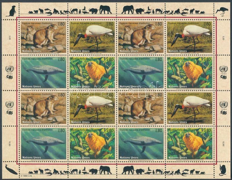 Endangered animals minisheet, Veszélyeztetett állatok kisív