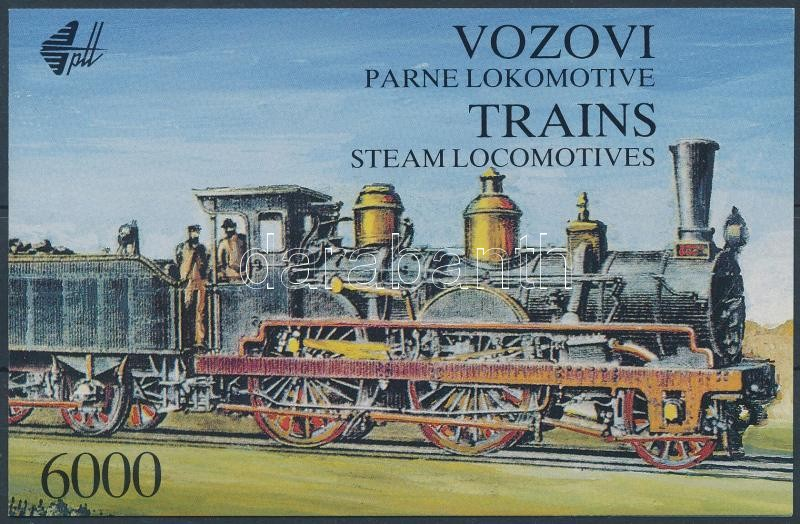 Locomotive stamp booklet Mozdony bélyegfüzet