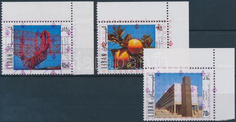Fejlődés sor 3 ívsarki értéke Development 3 stamps from set