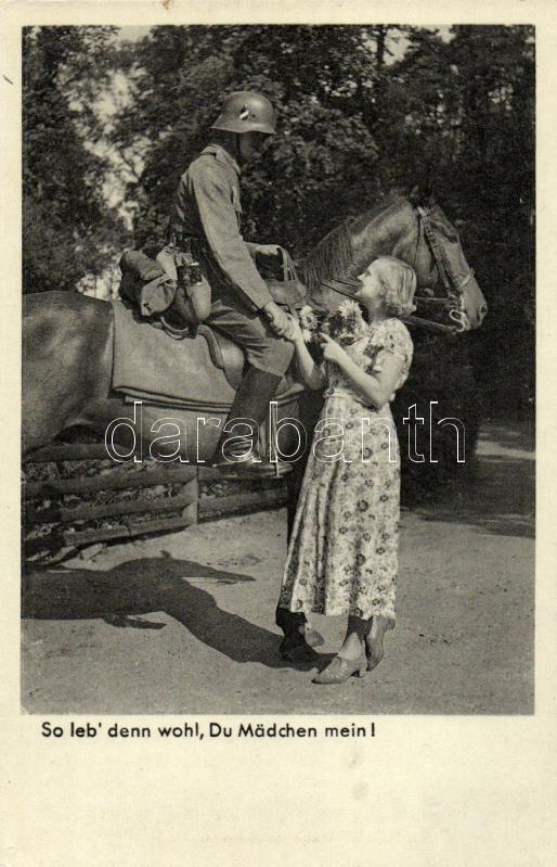 So leb' denn wohl, Du Mädchen mein! / WWII German cavalry soldier, II. világháborús német búcsúzó lovas katona