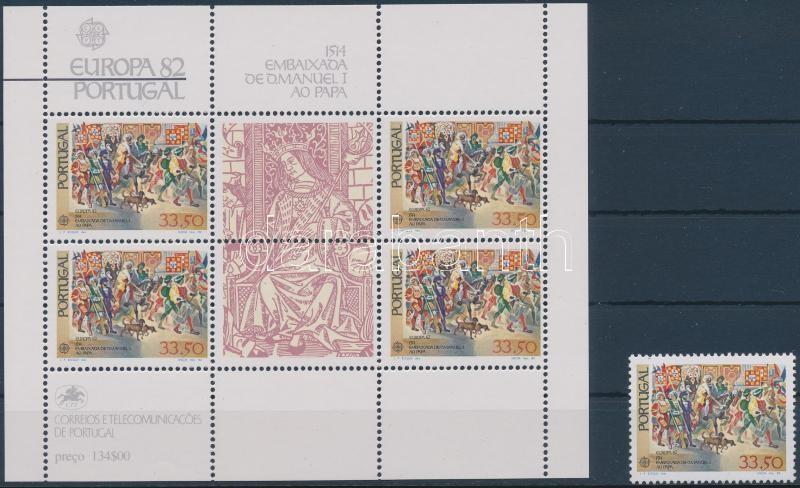 Europa CEPT historical events stamp + block, Europa CEPT történelmi események bélyeg + blokk